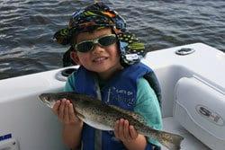 5 year old boy fishing